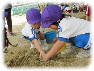 じゃがいも掘りごっこ ~朝和保育園~